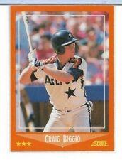 BCCG10 BCCG 1988 Fleer Update Craig Biggio #U-89 Rookie Card HOF