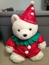 1994 Dayton Hudson Marshall Fields Santabear Plush Clown Outfit Holly Collar