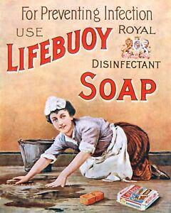 LIFEBUOY SOAP BATHROOM TOILET VINTAGE STYLE NOSTALGIC METAL SIGN TIN PLAQUE 1370