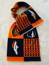 """New DENVER BRONCOS NFL Football Logo Scarf Fabric Fleece 60"""" Long 12 1/2"""" Wide"""