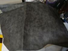 Vintage Vinyl Upholstery Fabric Remnant Medium Gray 14 x 20 inches