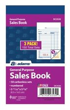 ABFDC3530  DC3530 Adams Sales Book, Carbonless, 1 box - 18 pads
