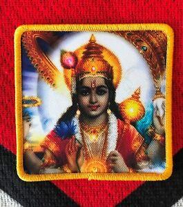 "Vishnu 3.25 x 3.25"" Embroidered iron-on sew-on Patch"