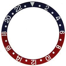 Bezel Insert Fits ROLEX GMT Blue Red 16760-6