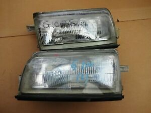 110-51253 PAIR FRONT HEADLIGHTS LEFT RIGHT SIDE DAIHATSU CHARADE G100 USED