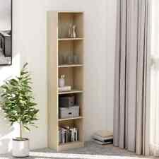 5-tier Book Cabinet Sonoma Oak 40x24x175 Cm Chipboard vidaXL