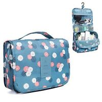 Portable Cosmetic Toiletry Bag Makeup Pouch Waterproof Hanging Organizer Bag