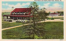 Club House and Casino Buhl Farm Sharon PA Postcard