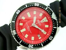Black 222510 Red Eu Serviced Watch Nr 92' Seiko 7002 7000 Ss Mens Date Auto