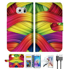 Meaningful Abstract Wallet Case Cover For Samsung Galaxy S6-- A020