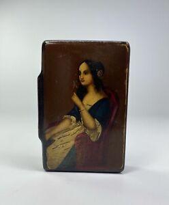 Stobwasser papier mache snuff box. Germany, c. 1830.