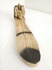 Vintage Native American Eagle Feather Incense Burner Holder Signed Tbm PolyResin