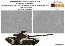 Camouflage paint masks for T-90 1/35 MBT Parade Airbrush Camo Scheme DN Models