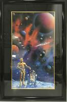 Michael David Ward Star Wars In A Galaxy Far, Far Away Litho - 6 cast signatures