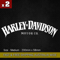 2x Harley Davidson Stickers Motorcycle Decals Stickers Vinyl Bike