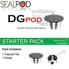 SealPod Stainless Steel Reusable Coffee Capsule Nescafe Dolce Gusto Starter Pack