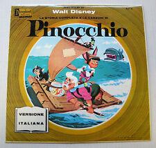 WALT DISNEY pinocchio LP anni '60 in italiano fiaba + canzoni