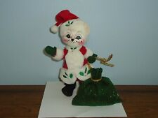 """New listing 2005 Annalee Christmas Doll Winterberry Mouse as Santa 10"""" Toy Sack"""