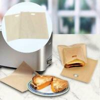 5-10pcs Toaster Bag Gegrillte Käse Sandwiches Wiederverwendbare Antihaft Brotbe