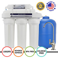 APEX MR-5100 5 Stage 100 GPD RO Filtration Reverse Osmosis Water Filter System