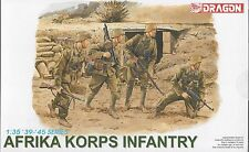 1/35 Dragon 6138 Afrika Korps Infantry 4 Figure Set Plastic Model Kit