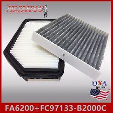 FA6200 FC97133-B2000C(CARBON) OEM QUALITY ENGINE & CABIN AIR FILTER: 14-18 SOUL