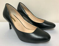 Ex M&S Autograph Black Real Leather Heel Court Shoes Variety Sizes RRP £45