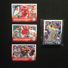 2015 TOPPS #1 #2 LOS ANGELES DODGERS TEAM SET (25)  LL'S & JOC PEDERSON ROOKIE +