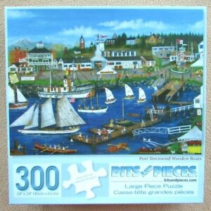 A 300 LARGE PIECE JIGSAW PUZZLE BY BITS AND PIECES - PORT TOWNSEND