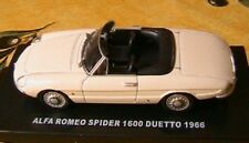 ALFA ROMEO 1600 SPIDER DUETTO 1966 1/43 CABRIOLET WHITE