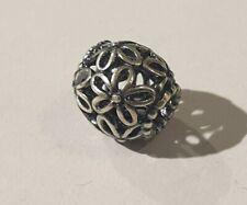 Pandora Flower Silver Filigree Charm