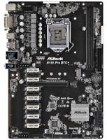 ASROCK PRO BTC Intel H110 1151 ATX 7 Gen Pcie usb3 M2 DDR4 Dvi Sata 3