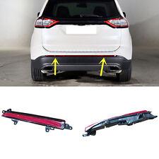 For Ford Edge 2015 2016 Red Lens Rear Bumper Reflector Rear Warn Fog Lights