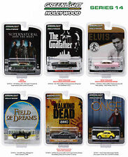 HOLLYWOOD SERIES / RELEASE 14 SET OF 6 CARS 1/64 DIECAST BY GREENLIGHT 44740-6