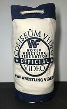 WWF Coliseum Video Canvas bag Vintage 1990's Very Rare