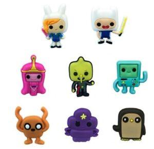 "Adventure Time Themed Set of 8 Fridge PVC 1"" Tall Magnets"