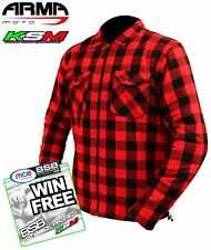 ARMR MOTO ARAMID MOTORCYCLE RED SHIRT CE ARMOUR (NEW 2017) M