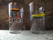 pair of rolls royce and daimler glass's gold rim