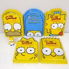 The Simpsons Season 6, 7, 8, 9, 10 Head Cases Boxes DVDs + Kidrobot Homer Figure