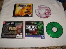 Army Men (PC, 1999) & Delta Force Black Hawk Down (PC, 2003) Games