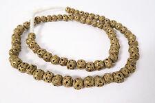 Strang Messingperlen CR1 9 -10mm Gelbguß Ghana Brass Beads Ashanti Akan Afrozip