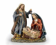 "NEW Christmas 16.5"" Deluxe Hand Painted Resin Hand Pint Holy Family Nativity Set"