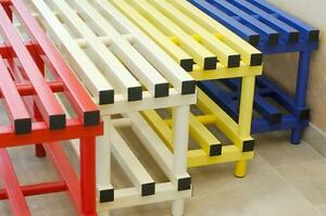 Plastic bench with under storage waterproof swimming pool patio  PVC