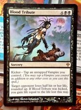 MTG 1x BLOOD TRIBUTE - SP/NM - ZENDIKAR Rare Vampire Sorcery