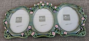"""Russ Metal Floral Picture Frame Photo 2"""" x 2.5"""""""
