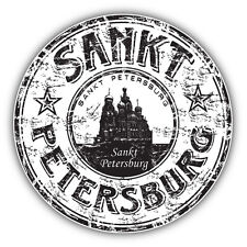 "Sankt Petersburg City Russia Grunge Travel Car Bumper Sticker Decal 5"" x 5"""