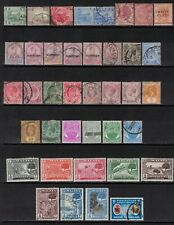 Malaya Straits Settlements early stamps ,Used/Mint lot of 39 values,HCV