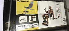 Weider XR 5.9 Adjustable Slant Workout Bench Incline Decline **Fast Ship**