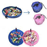 New Storage Bag Toys Organizer Rug Box For Dolls  Portable Kids Play Mat Stylish