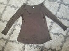 Forever 21 Cool Story Long Sleeve Army Green Large Top Distressed